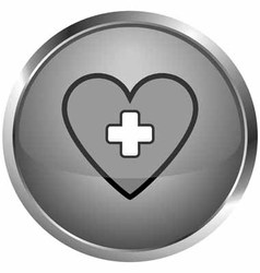 icon love medical vector image