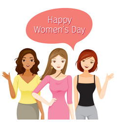 International womens day women with various vector