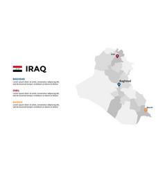 iraq map infographic template slide vector image