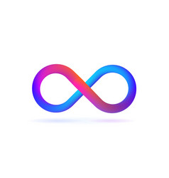 isolated logo symbol of infinity on white vector image