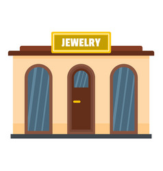Jewelry shop icon flat style vector