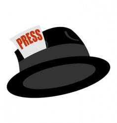 journalist vintage hat vector image vector image