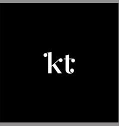 K t letter logo abstract design on black color vector
