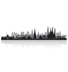 Kazan Russia city skyline silhouette vector image