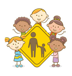 Kids with parental guidance sign vector