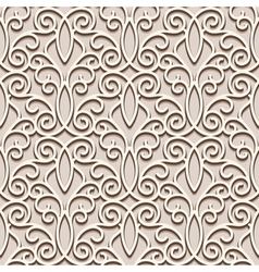Lacy beige pattern vector
