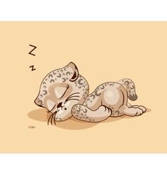 Leopard cub asleep vector