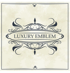 Luxury emblem crest elegant template design vector