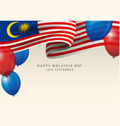 Malaysia insignia with balloons as decoration vector