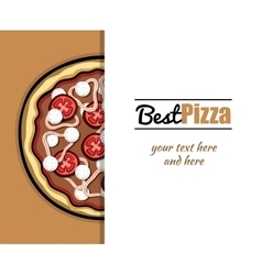 Menu For Pizzeria 4 vector image