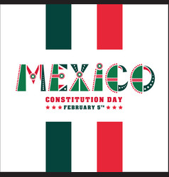 mexico constitution day 5 vector image
