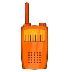 Orange portable handheld radio icon vector image