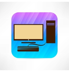 personal computer icon vector image