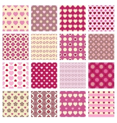 Pink seamless backgrounds vector