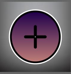 Positive symbol plus sign violet gradient vector