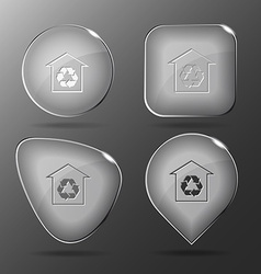Protection of nature Glass buttons vector image