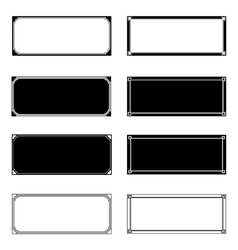Rectangle Frames vector image