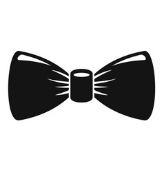 retro bow tie icon simple style vector image