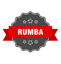 Rumba label rumba isolated seal sticker sign vector
