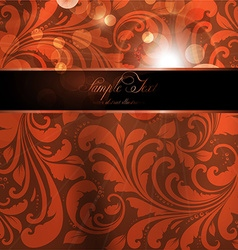 Seamless Orange Floral Spring Wallpaper with vector