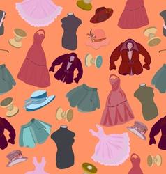 seamless wear hats mannequin vector image