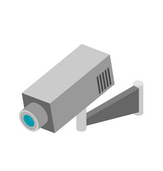 Security camera isometric flat vector