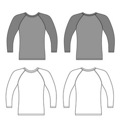 Sleeve t-shirt outlined template vector