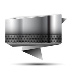 Steel banner vector image
