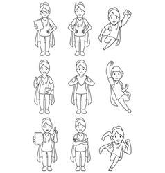 super nurse female line art vector image