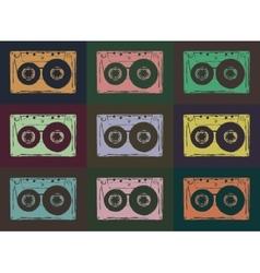 Tape casettes vector