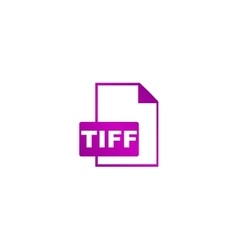 TIFF Icon concept for design vector image