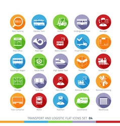 Transport Flat Set 04 vector image