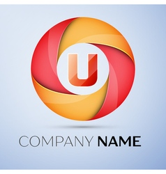 U letter colorful logo in the circle template for vector