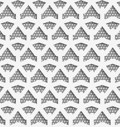 White 3d net on textured white and gray pattern vector