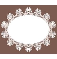White lace napkin vector