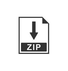 zip file document icon download zip button icon vector image