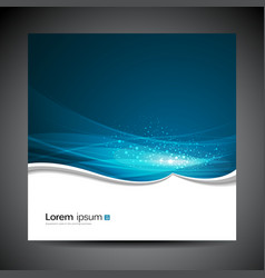 Banners modern wave blue background vector image vector image