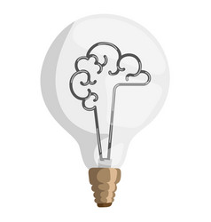 brain lamp concept isolated vector image