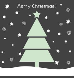 christmas tree christmas card vector image vector image
