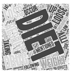 Dieting and weight loss drugs word cloud concept vector