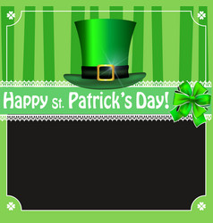 happy saint patricks day vintage card with vector image