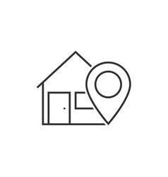 home location line icon vector image vector image