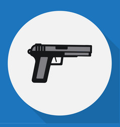 of security symbol on weapon vector image