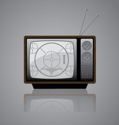 Old TV Icon vector image vector image