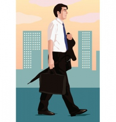 business walk vector image vector image