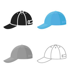 cap icon of for web and mobile vector image vector image