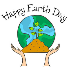 collection stock earth day style vector image vector image