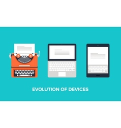 Evolution of devices vector image vector image