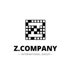minimal style geometric Z letter logo vector image vector image
