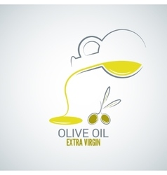 olive oil design background vector image vector image